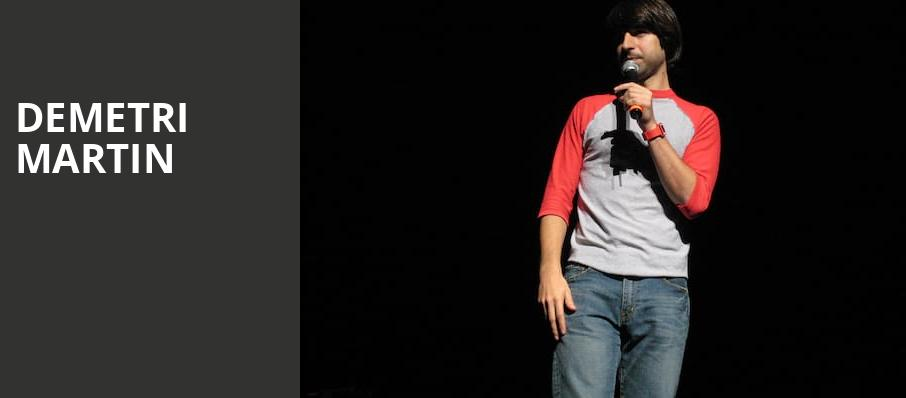 Demetri Martin, The National, Richmond