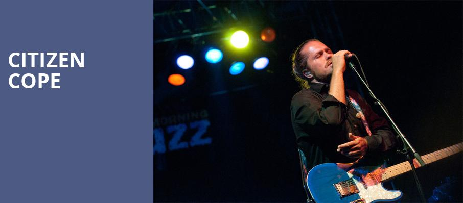 Citizen Cope, The National, Richmond